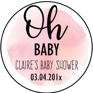 Oh Baby,Baby Shower Party Stickers, Party Labels