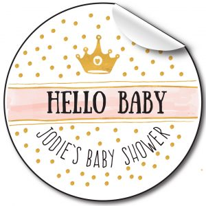 Baby Shower Personalised Stickers, Hello Baby panel