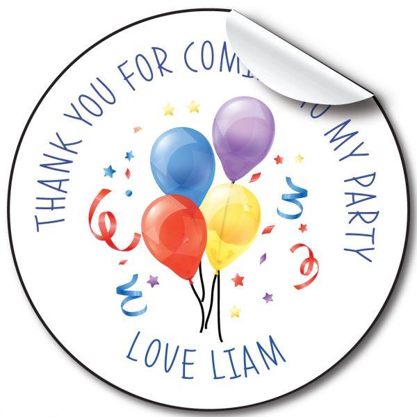 Balloon Children's Birthday Personalised Stickers,