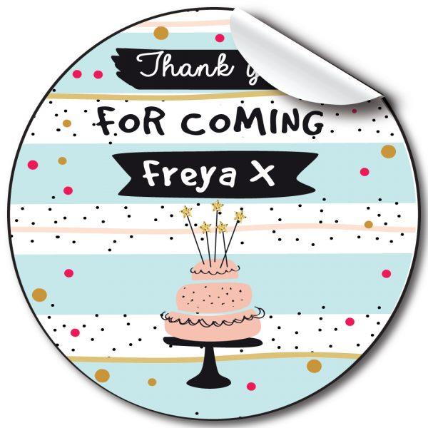 Birthday Cake Birthday Party Stickers