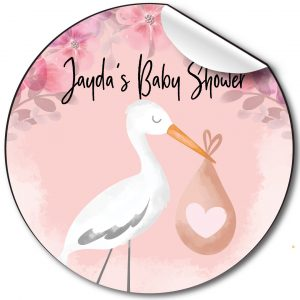 Personalised-baby-shower-stickers-stork-pink.