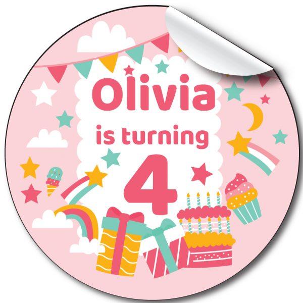 Birthday Presents Children's Birthday Party Stickers