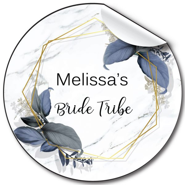 Blue Marble Hen Party personalised stickers