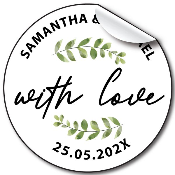 With love wedding-stickers-personalised labels