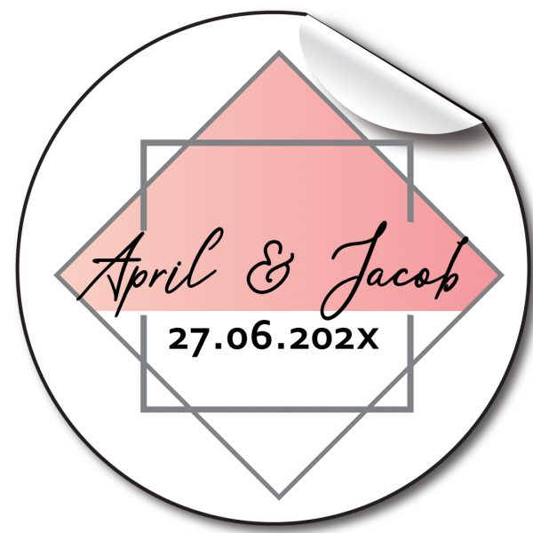 Frames Wedding day personalised stickers, label