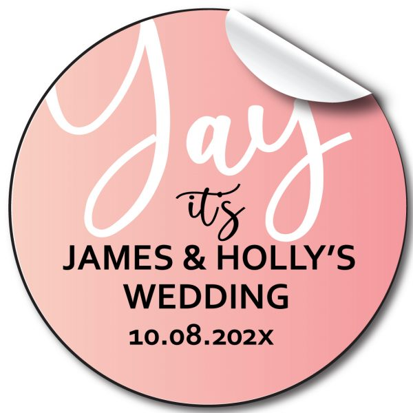 Yay Wedding day personalised stickers, labels