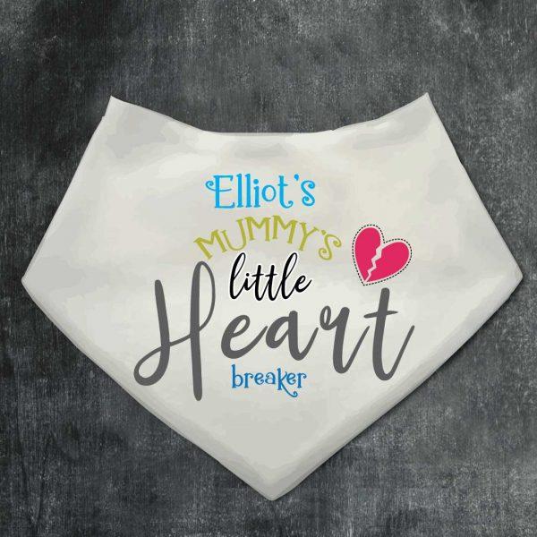 Baby Bibs Heart breaker personalised Bandana bib