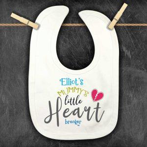 Baby Bibs Heart breaker personalised bib