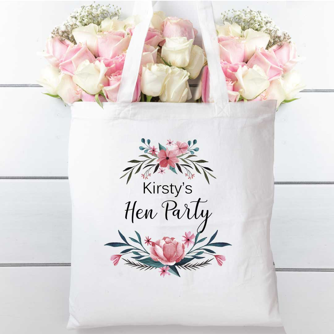 Tote-bag-Floral-Blue-cotton-shopper-personalised