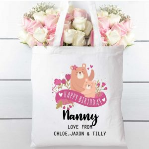Tote-bag-bears-and-florals-Cotton-Shopping-bag
