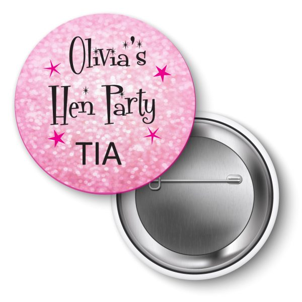 Hen Party Badges personalised 50's theme