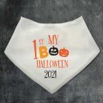 Halloween Personalised Bib Boo and Pumpkins