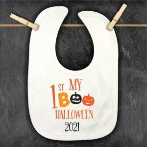 My 1st Halloween Boo personalised bib
