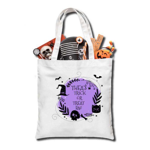 Halloween Trick or Treat bag, Personalised