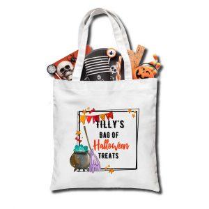 Halloween Broom Trick or Treat bag, Personalised