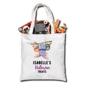 Halloween Hanging bat Treat bag, Personalised