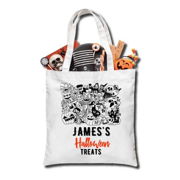 Halloween Monsters Treat bag, Personalised