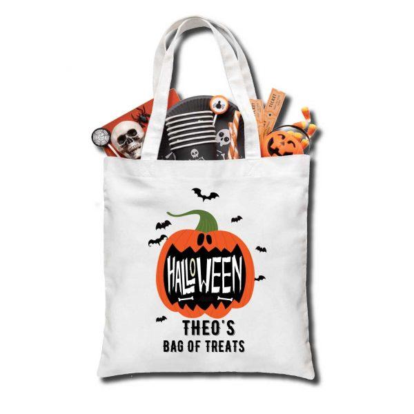 Halloween Pumpkin Trick or Treat bag, Personalised
