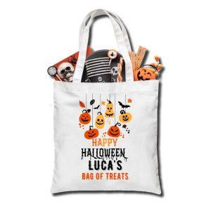 Halloween Pumpkins Trick or Treat bag, Personalised