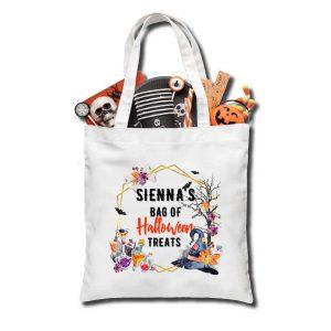 Halloween Hat Trick or Treat bag, Personalised