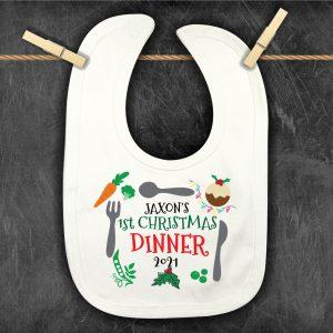 My-1st-Christmas-Dinner-Bib personalised