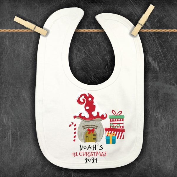 Personalised Christmas-Bib-gnomes-front-door