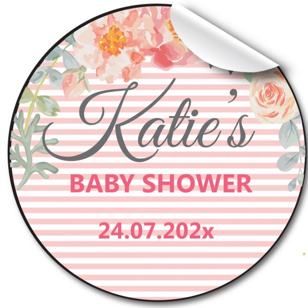 BABY SHOWER PERSONALISED STICKERS, PARTY LABELS