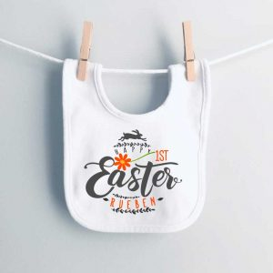 Happy-1st-Easter-Daisy-and-Rabbit-bib-personalised