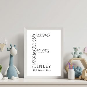 Nursery prints dots personalised