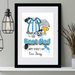 Football Top print personalised Father's day gift