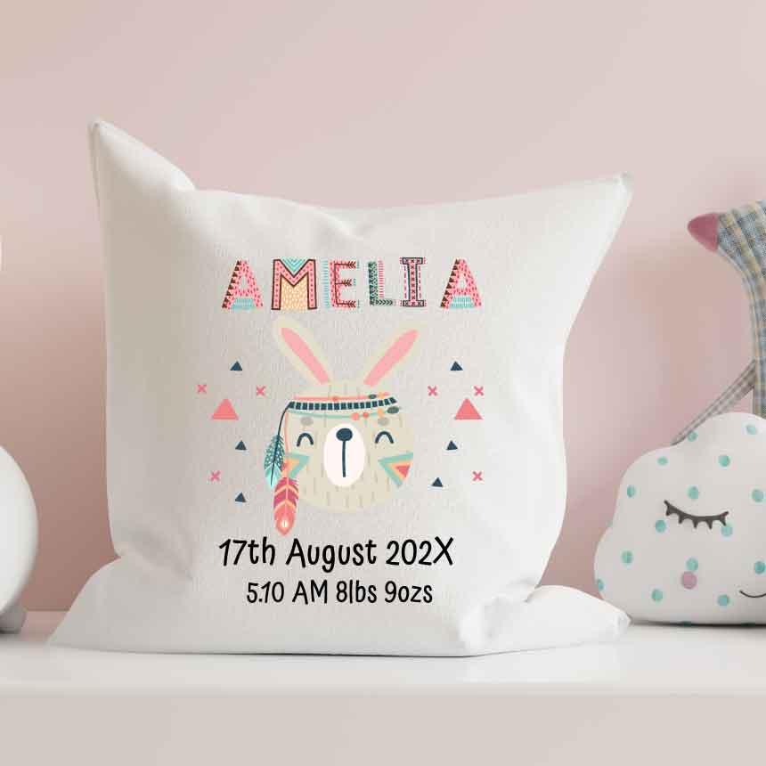 Baby-Room-Cushion-Baby-Pillow-Personalised Boho-Tribal