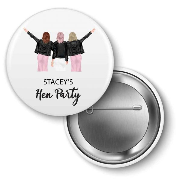 Hen-party-badges-bridesmaids personalised