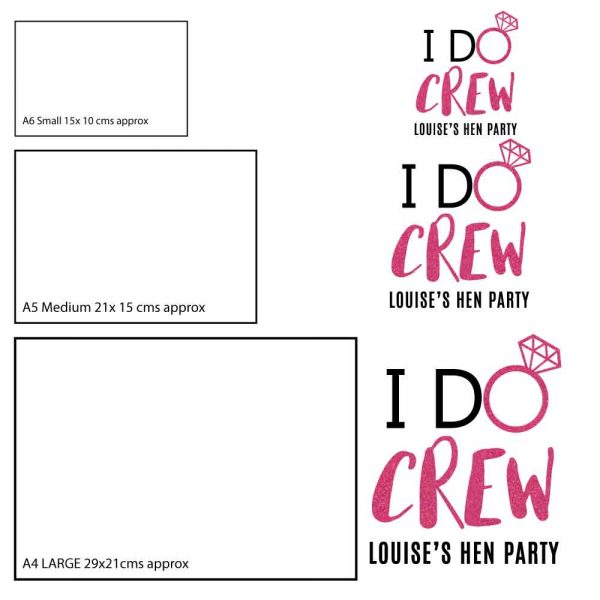 Hen party t-shirt stickers personalised-black-and-white-I-Do-Crew