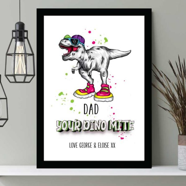 Dinomite Print Father's Day print personalised Wall art