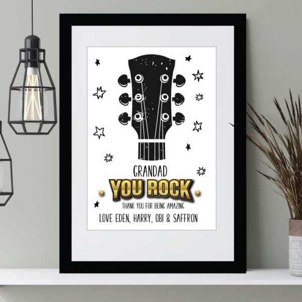 You Rock-print personalised Father's Day print