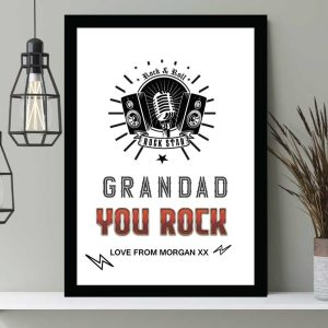 You Rock Mic print personalised Father's day gift