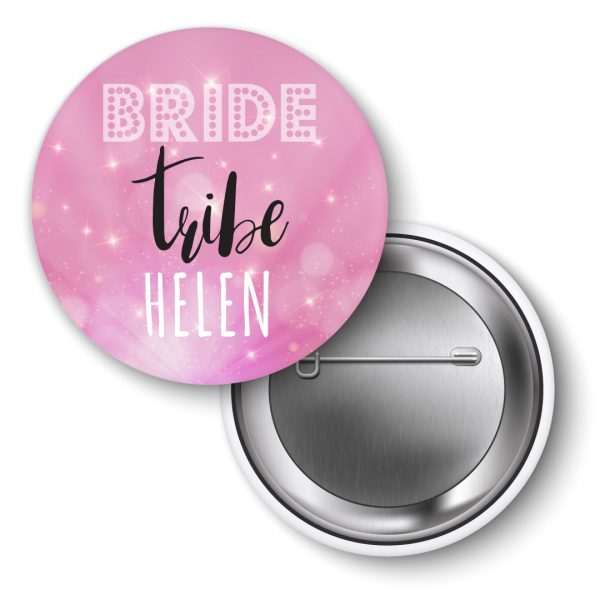 Hen Party badges, personalised Bride Tribe