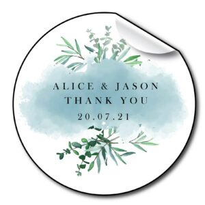 wedding-stickers-personalised-floral-blue