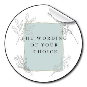 wedding-stickers-personalised-Blue-foliage