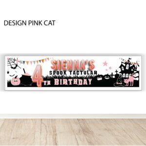 Halloween birthday banner personalised spooktactular